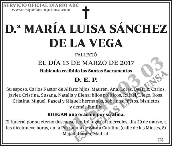 María Luisa Sánchez de la Vega